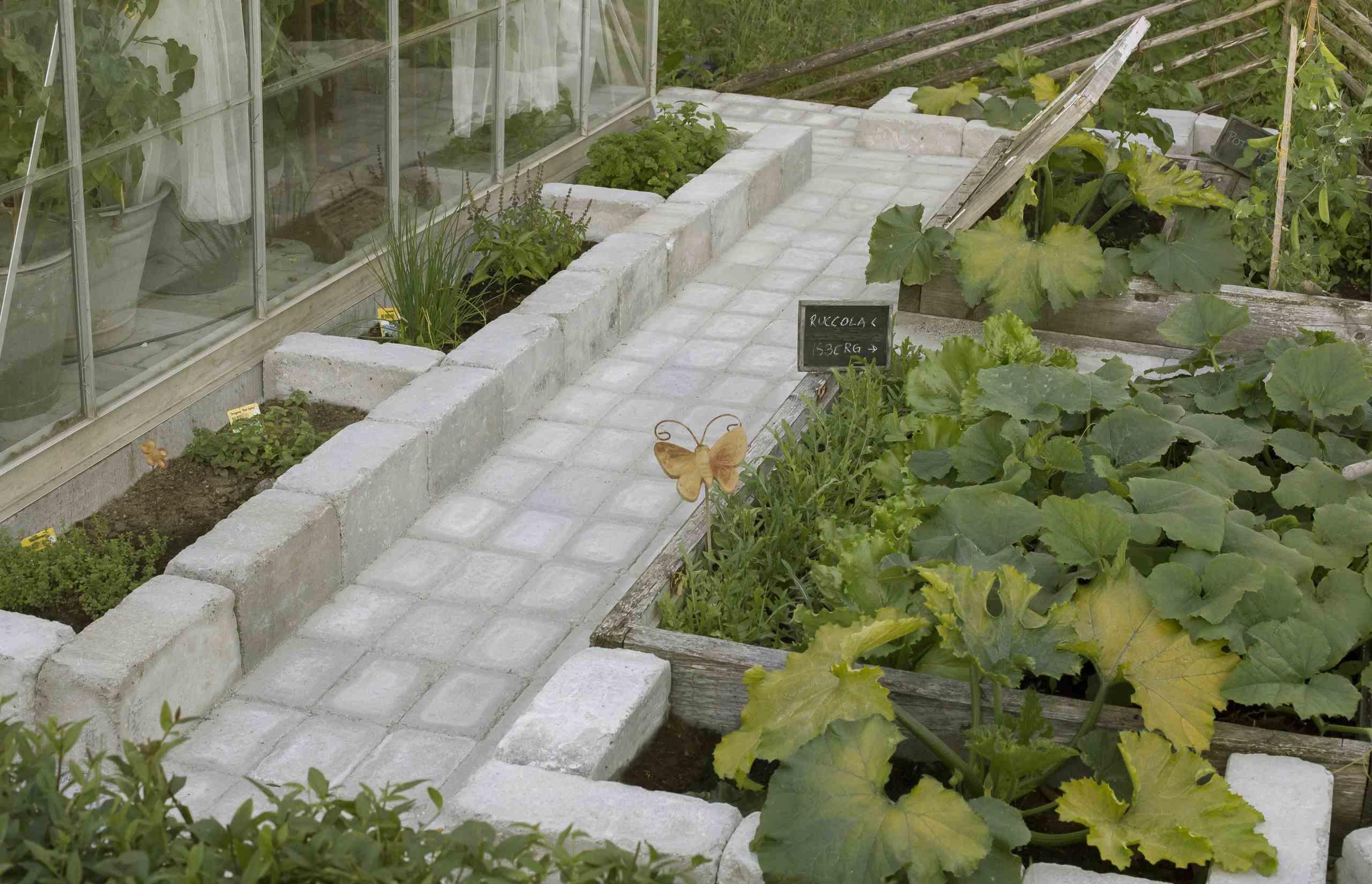 Trädgårdsplanering växthus